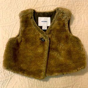 Toddler Old Navy Faux Fur Vest
